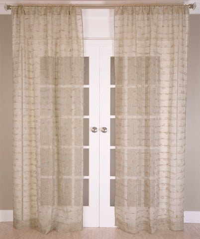 #P519 Natural Juteknot Curtain (Use Discount Code)