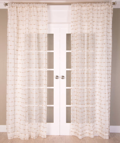 #P519 White Juteknot Curtain (Use Discount Code)