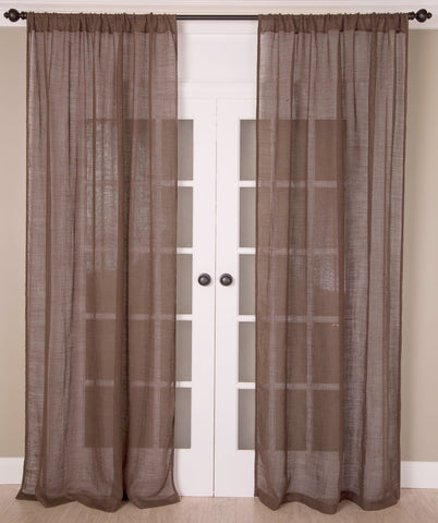 #P520 COCOA Sheer Curtain (Use Discount Code)
