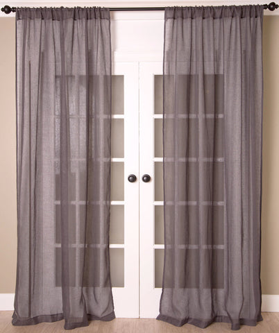#P520 Pewter Sheer Curtain (Use Discount Code)