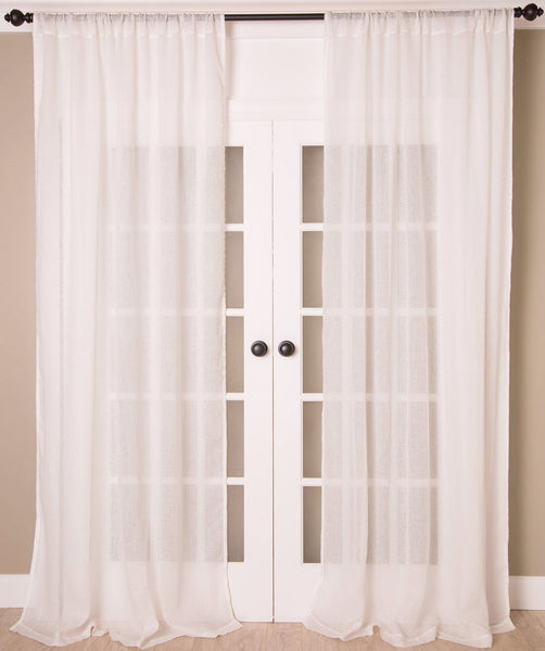 #P520 White Sheer Curtain (Use Discount Code)