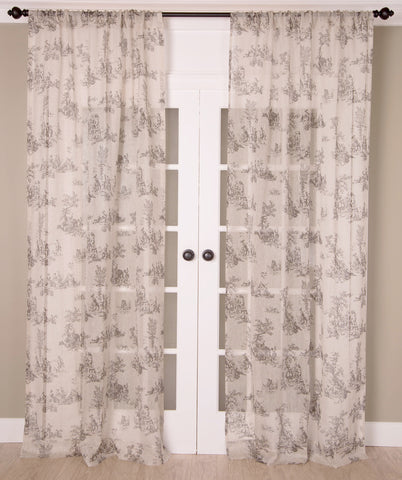 #P526 Toile Print Curtain  (Use Discount Code)