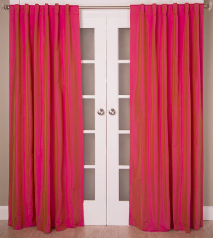 #3P550 {Azelea Colors} Faux Silk Curtain (Use Discount Code)
