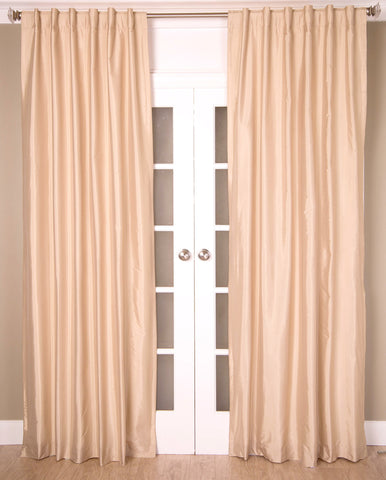 #2P550 {Ivory Colors} Faux Silk Curtain (Use Discount Code)