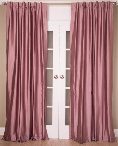 #6P550 Rosewood Colored Faux Silk Curtain (Use Discount Code)