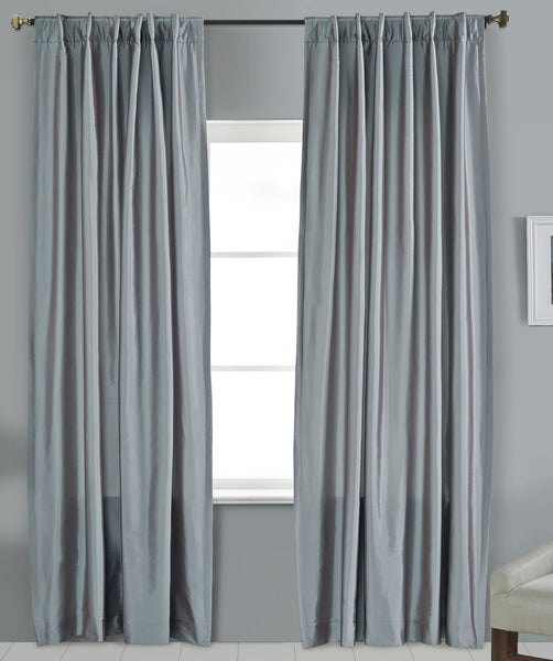 #P550 Smokey Faux Silk Curtain (Use Discount Code)