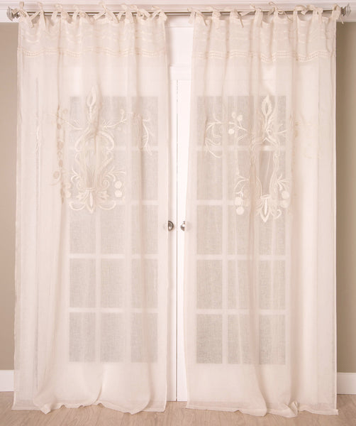 #P5518 Linen Lace Curtain (Use Discount Code)