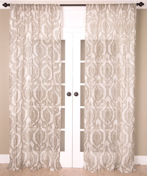 #P5519 Ivory Print Curtain (Use Discount Code)