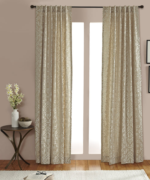#P5521 Natural Linen Embroidery Curtain (Use Discount Code) Pay 1/2 Down