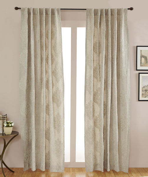 #P5534 Natural Empress Damask Curtain (Use Discount Code) Pay 1/2 Down