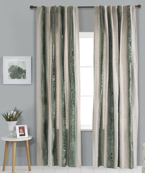 #P5535 Surfspa Royalty Embroidery Curtain (Use Discount Code) Pay 1/2 Down