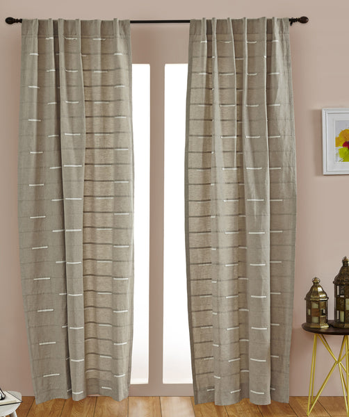 #P5537  Natural Embroidery Curtain (Use Discount Code) Pay 1/2 Down