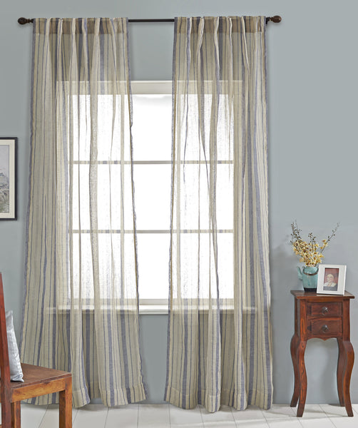#P5543 Linen Stripe Curtain (Use Discount Code)