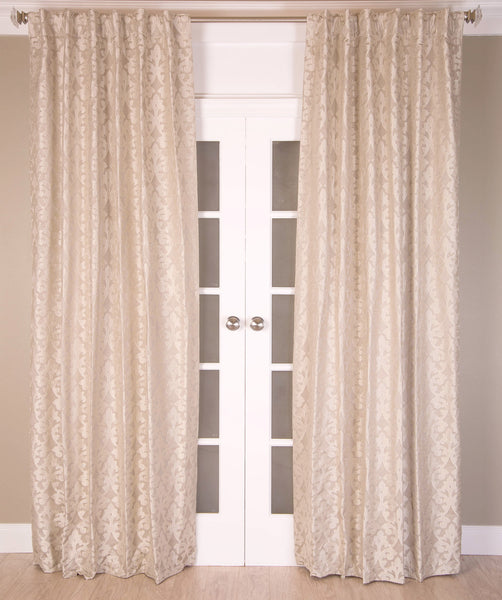 #P560 Natural Faux Silk Curtain (Use Discount Code) Pay 1/2 Down