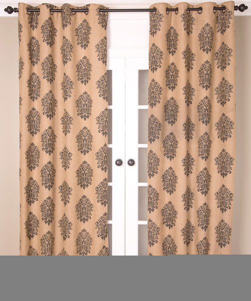 #P562 Natural Print Curtain (Use Discount Code) Pay 1/2 Down