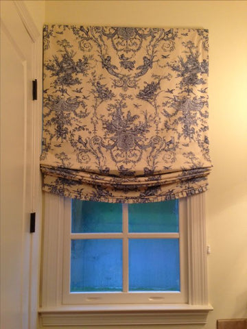 Roman Shade #100  (Toile, Relaxed)