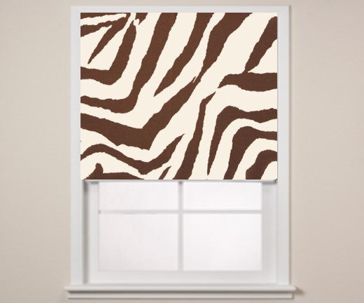 #124 Animal Print Roman  (slats) YOU PAY  1/2  DOWN
