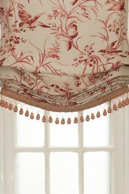 #157 Roman Shades with BIRDS (slats)  YOU PAY 1/2 DOWN