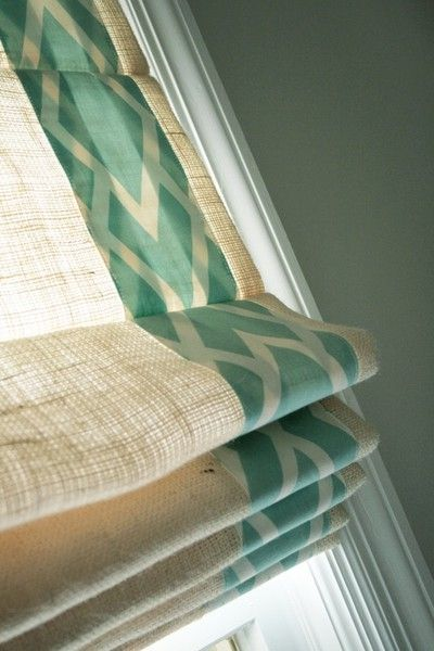 #086 Roman Shade  with Decorative Fabric  (tucks)