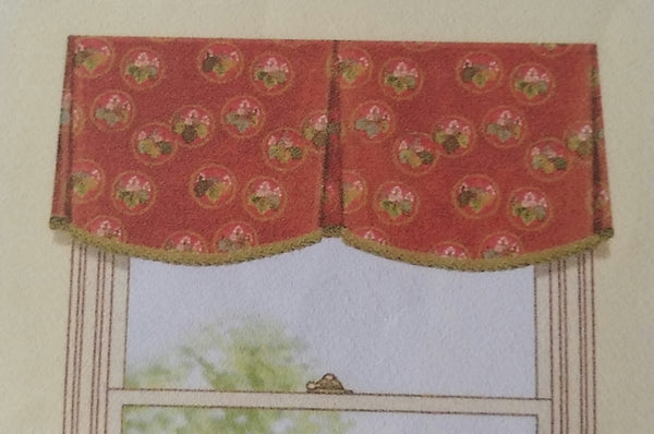 #237 Simple Scalloped Valance  YOU PAY 1/2 DOWN