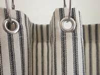 Ticking Shower Curtain with Small Grommets   #2041  PAY 1/2 DOWN