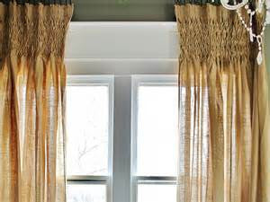 #P2009 Burlap Look-A-Like Fabric, Smocked Curtains