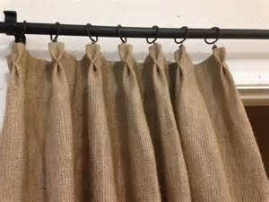 Burlap Curtain with Pleated Tops, UNLINED   #2014  PAY 1/2 DOWN
