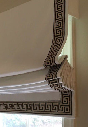 #123  Roman Shade with Fabulous Grecian Trims