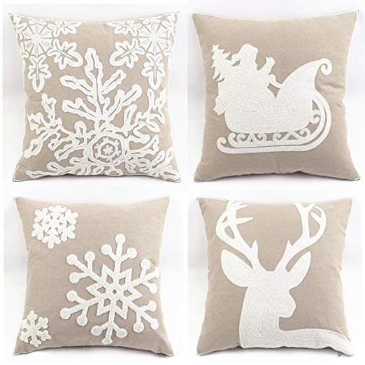 TP126 Grey Christmas Throw Pillows Group
