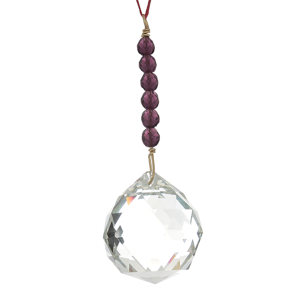 Hanging Crystal - Feng Shui - Wealth and Abundance Area - 40mm - Sandra Jeffs