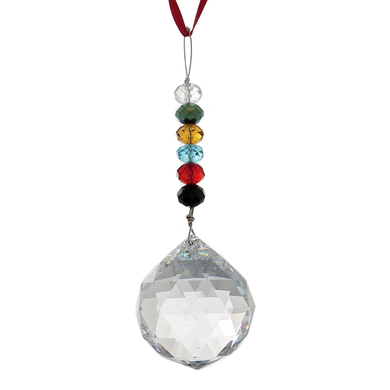 Hanging Crystal - Feng Shui - 6 True Colors - 40mm - Sandra Jeffs