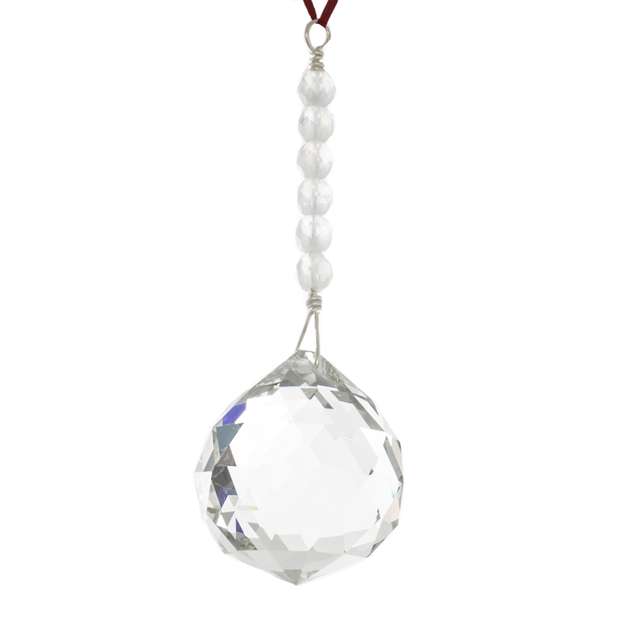 Hanging Crystal - Feng Shui - Creativity Area - 40mm - Sandra Jeffs