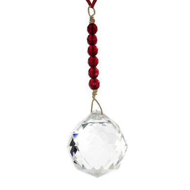 Hanging Crystal - Feng Shui - Reputation/Fame Area - 40mm - Sandra Jeffs