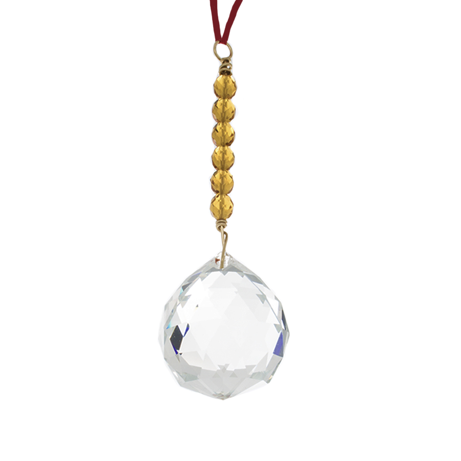 Hanging Crystal - Feng Shui - Health Area - 40mm - Sandra Jeffs