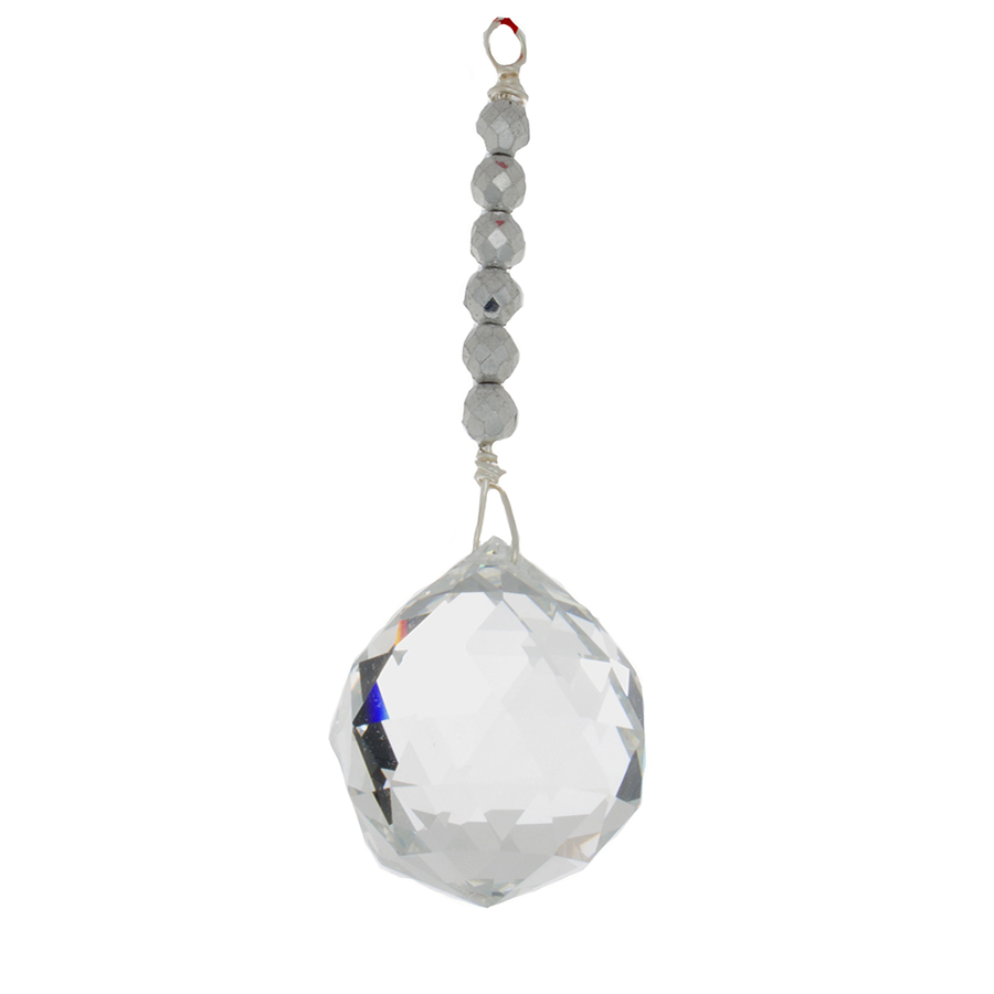 Hanging Crystal - Feng Shui - Helpful People Area - 40mm - Sandra Jeffs