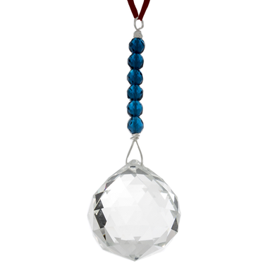 Hanging Crystal - Feng Shui - Knowledge Area - 40mm - Sandra Jeffs