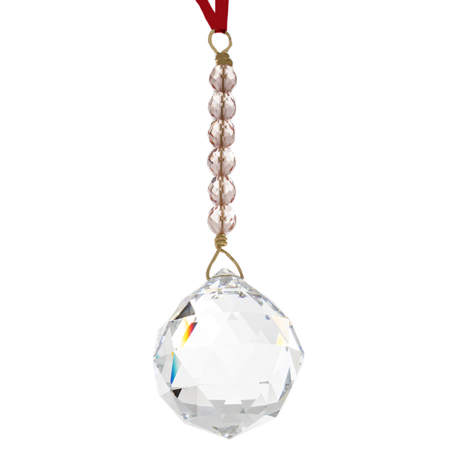 Hanging Crystal - Feng Shui - Relationship Area - 40mm - Sandra Jeffs