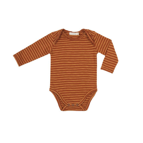 "Langarm-Body ""Stripe Golden Spice"""