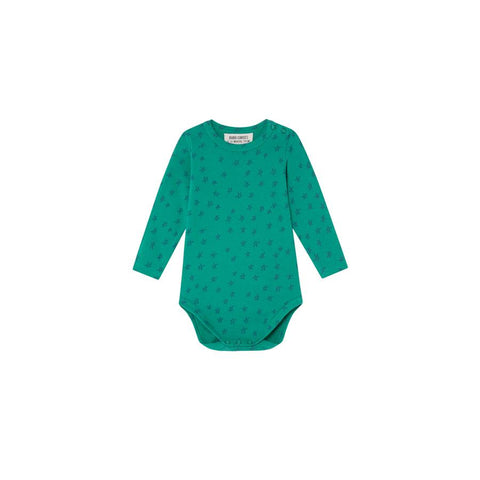"Langarm-Body ""Allover Stars Green"""