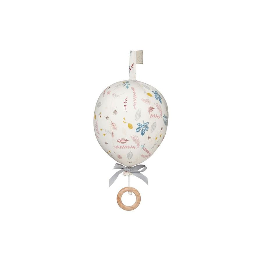"Cam Cam Baby Mobile ""Ballon Pressed Leaves"" mit Musik - kyddo"