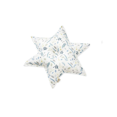 "Deko-Kissen ""Star Pressed Leaves Blue"""