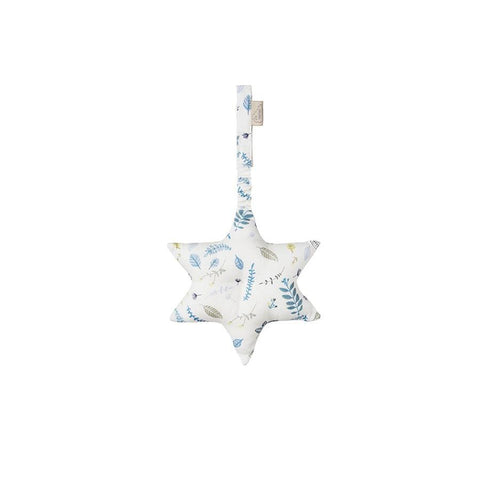 "Spielbogen-Mobile  ""Star Pressed Leaves Blue"" mit Raschelpapier"
