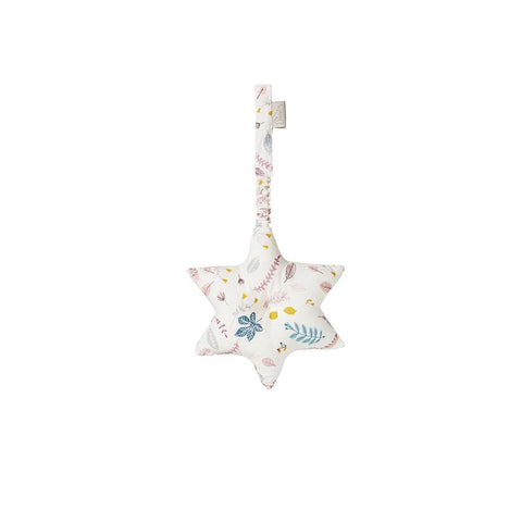 "Spielbogen-Mobile  ""Star Pressed Leaves Rose"" mit Raschelpapier"