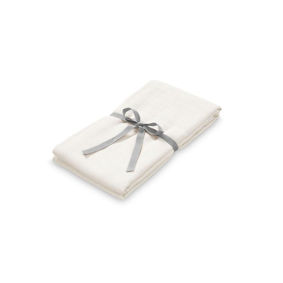 "Cam Cam Mulltuch Swaddle ""Light Crème White"" - kyddo"