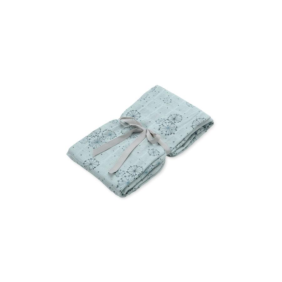 "Mulltuch ""Swaddle Light Dandelion Petrol"""