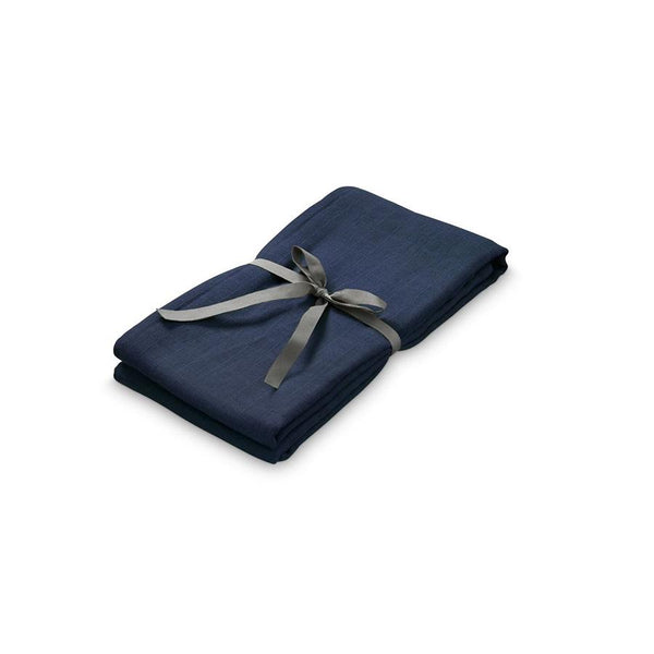 "Cam Cam Mulltuch Swaddle ""Light Navy"" - kyddo"