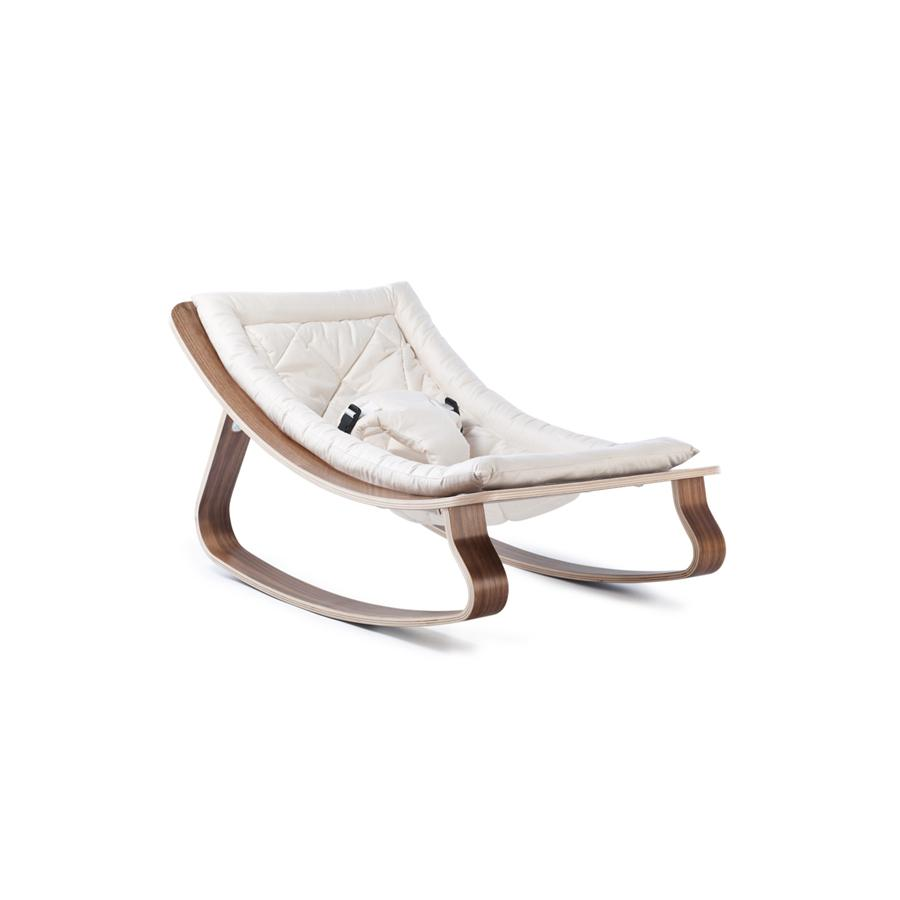 "Babywippe ""Levo Walnut Gentle White"""