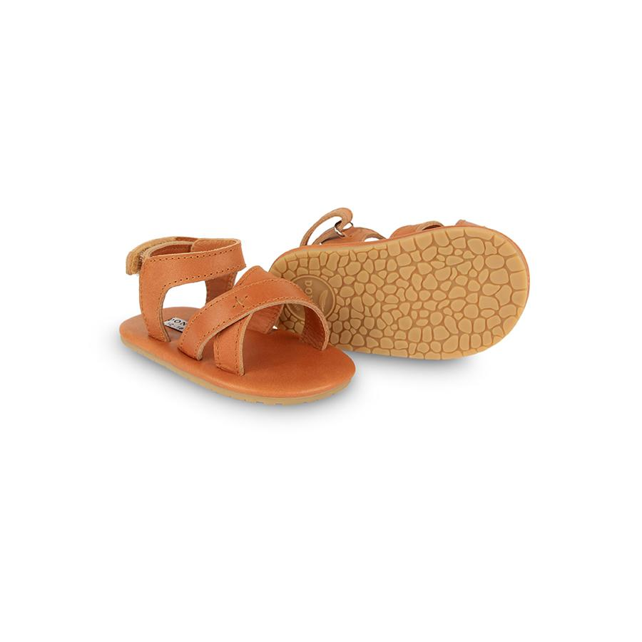 "Babysandalen ""Giggles Camel Classic Leather"""