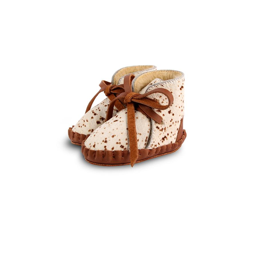 "Babyschuhe ""Pina Exclusive Lining Small Bambi Spotted Cow Hair"""