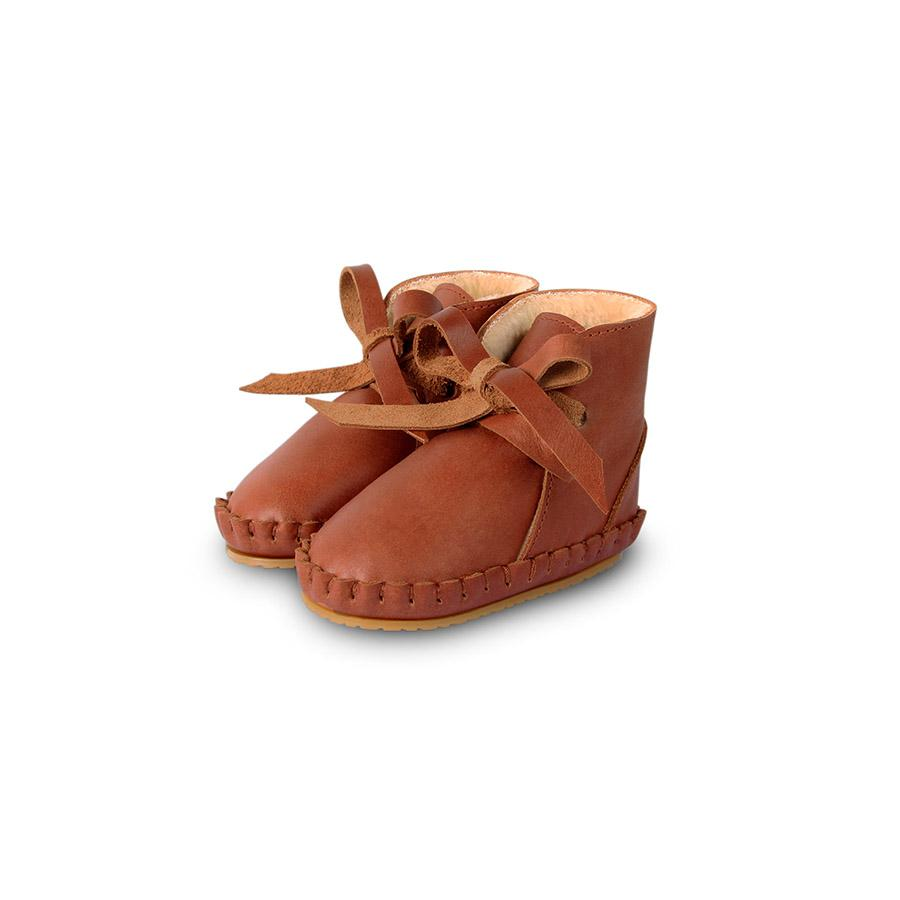 "Babyschuhe ""Pina Lining Cognac Classic Leather"""
